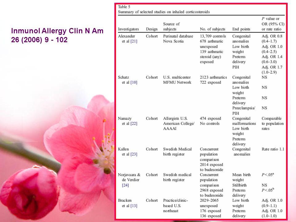 Inmunol Allergy Clin N Am 26 (2006) 9 - 102