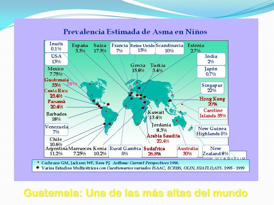 Guatemala: Una de las más altas del mundo 28%