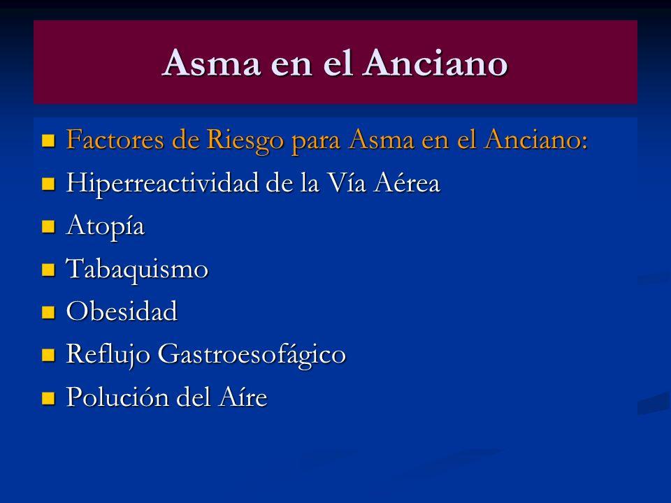 Asma en el Anciano Factores de Riesgo para Asma en el Anciano: Factores de Riesgo para Asma en el Anciano: Hiperreactividad de la Vía Aérea Hiperreact