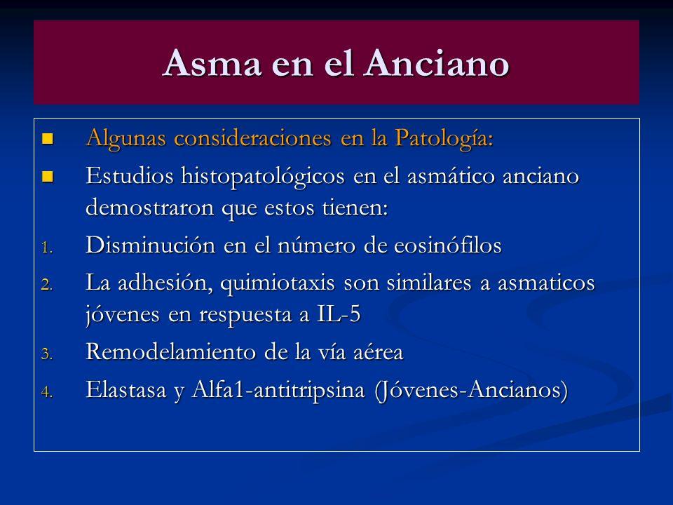 Asma en el Anciano Algunas consideraciones en la Patología: Algunas consideraciones en la Patología: Estudios histopatológicos en el asmático anciano