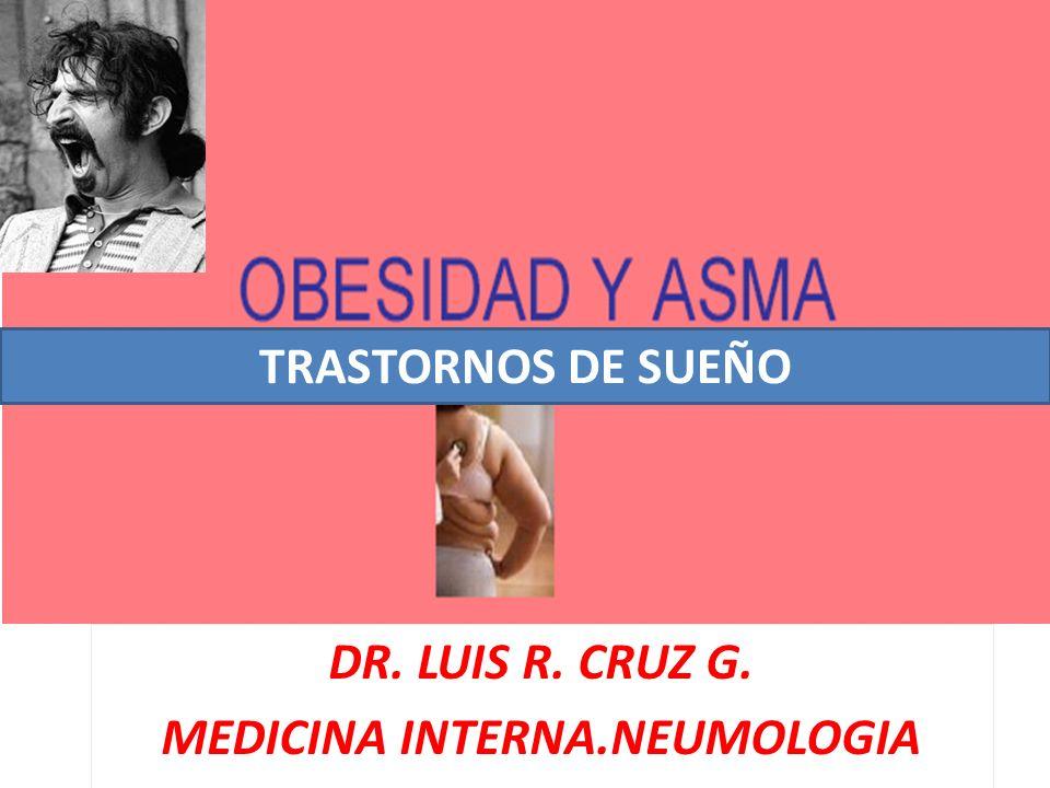 DR. LUIS R. CRUZ G. MEDICINA INTERNA.NEUMOLOGIA TRASTORNOS DE SUEÑO