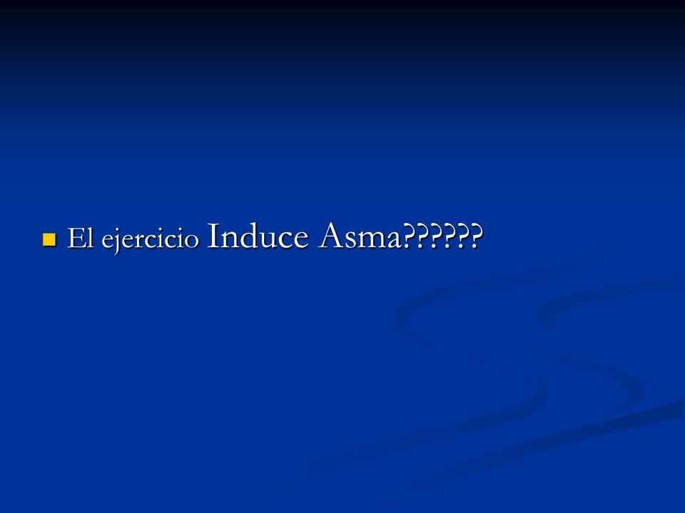 El ejercicio Induce Asma?????? El ejercicio Induce Asma??????