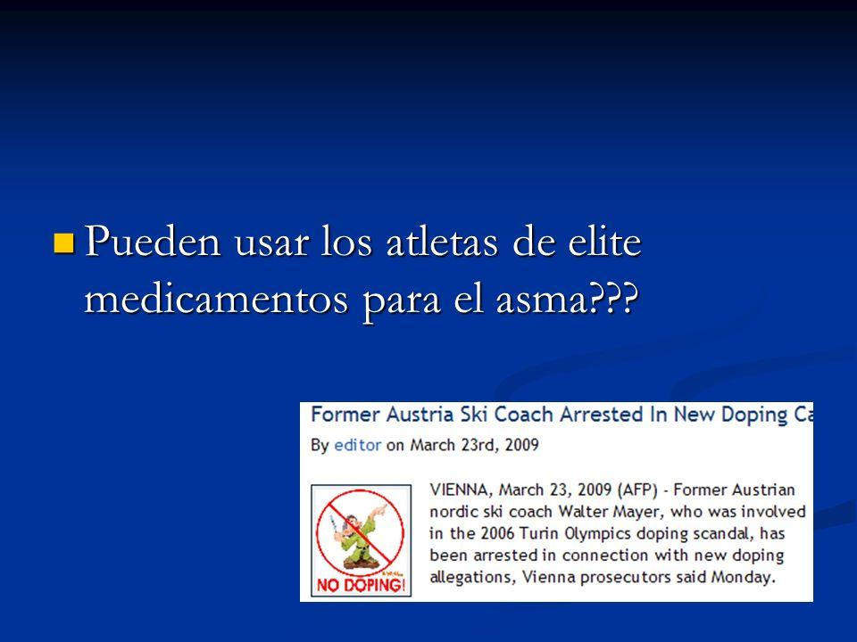 Pueden usar los atletas de elite medicamentos para el asma??? Pueden usar los atletas de elite medicamentos para el asma???