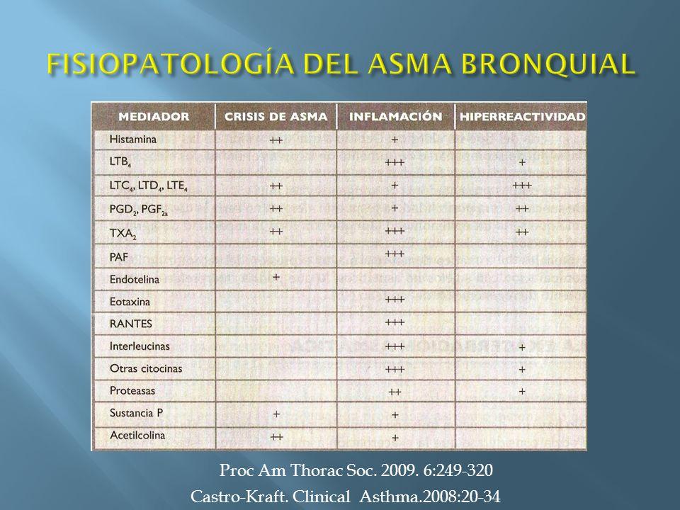 Castro-Kraft. Clinical Asthma.2008:20-34 Proc Am Thorac Soc. 2009. 6:249-320