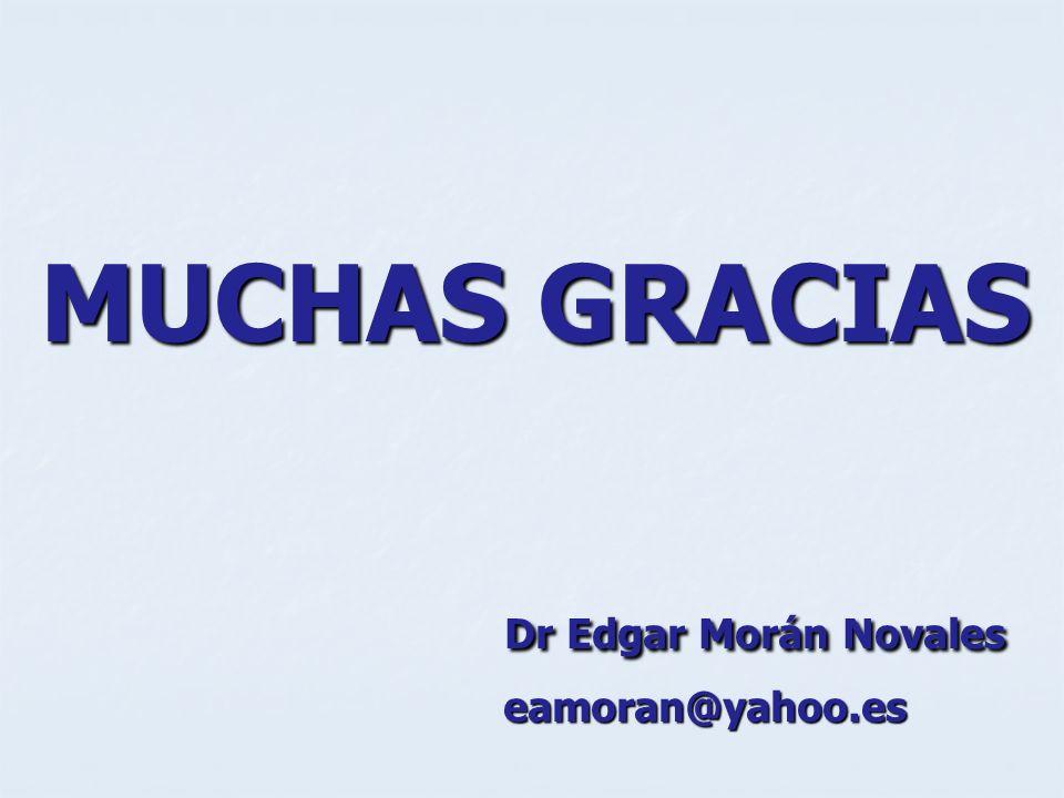 MUCHAS GRACIAS Dr Edgar Morán Novales Dr Edgar Morán Novales eamoran@yahoo.es eamoran@yahoo.es