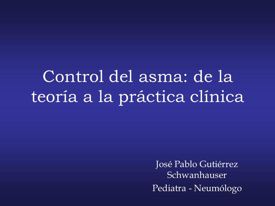 Control del asma: de la teoría a la práctica clínica José Pablo Gutiérrez Schwanhauser Pediatra - Neumólogo