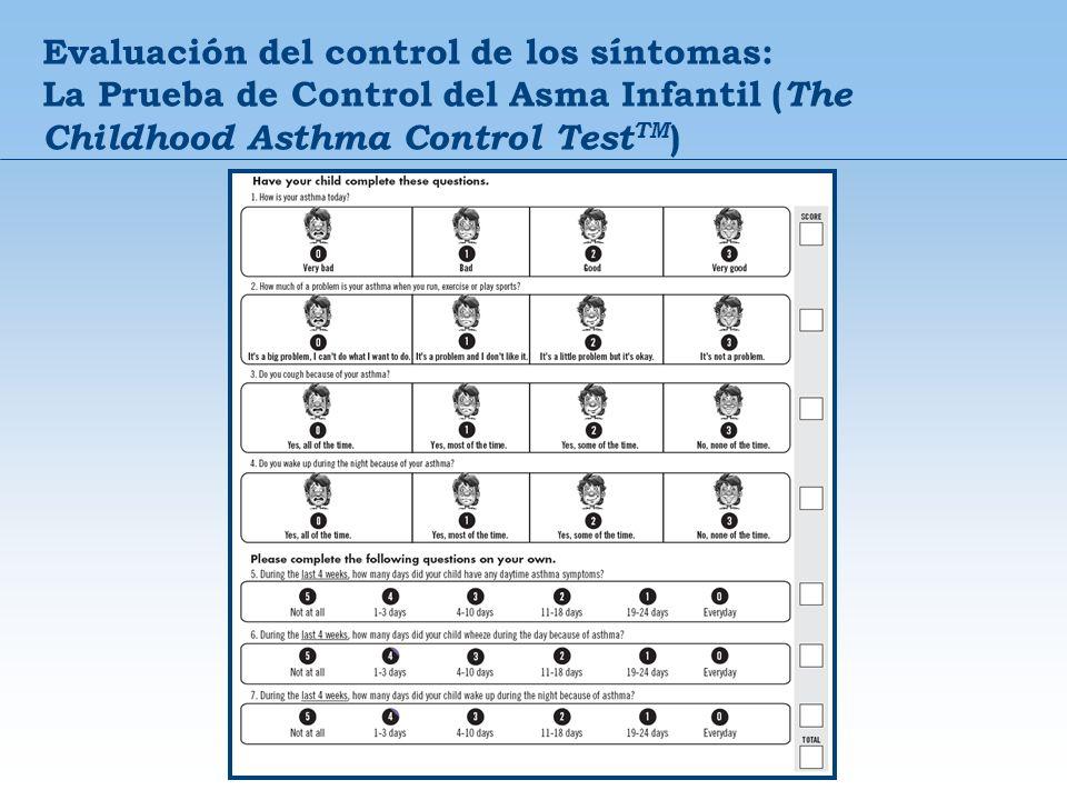 Evaluación del control de los síntomas: La Prueba de Control del Asma Infantil ( The Childhood Asthma Control Test TM )