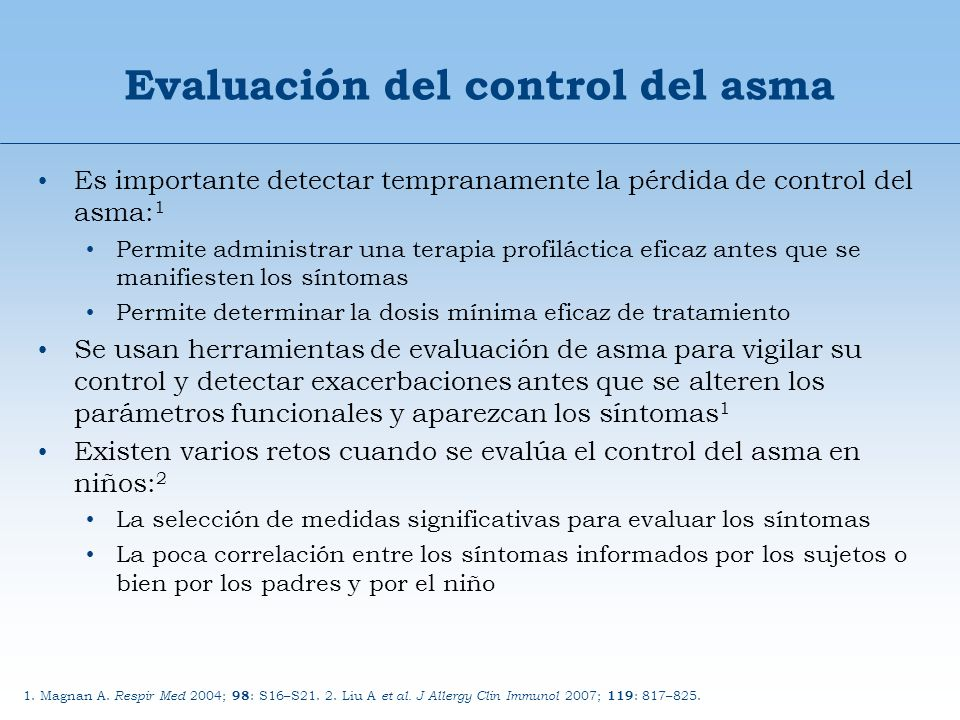 Paso 1Paso 2Paso 3Paso 4Paso 5 Educación sobre asma Control ambiental Agonista 2 acc.