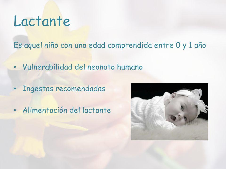 Vulnerabilidad del neonato humano Crecimiento importante: o Desde el primer año de vida, su talla aumenta unos 25cm y su peso unos 7kg.