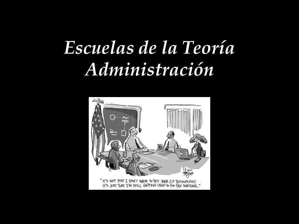 Escuela Ambiental Escuelas de la Teoría Administración Emitida por psicólogos experimentales.