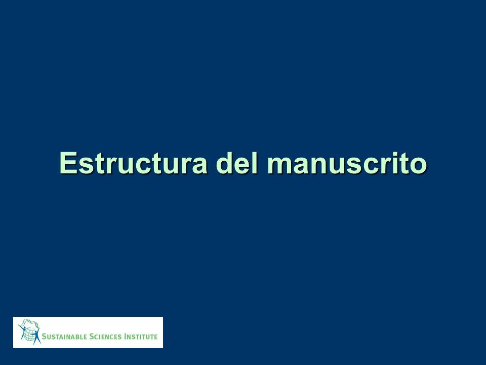 Esquema de presentación 1.¿como estructurar su manuscrito.