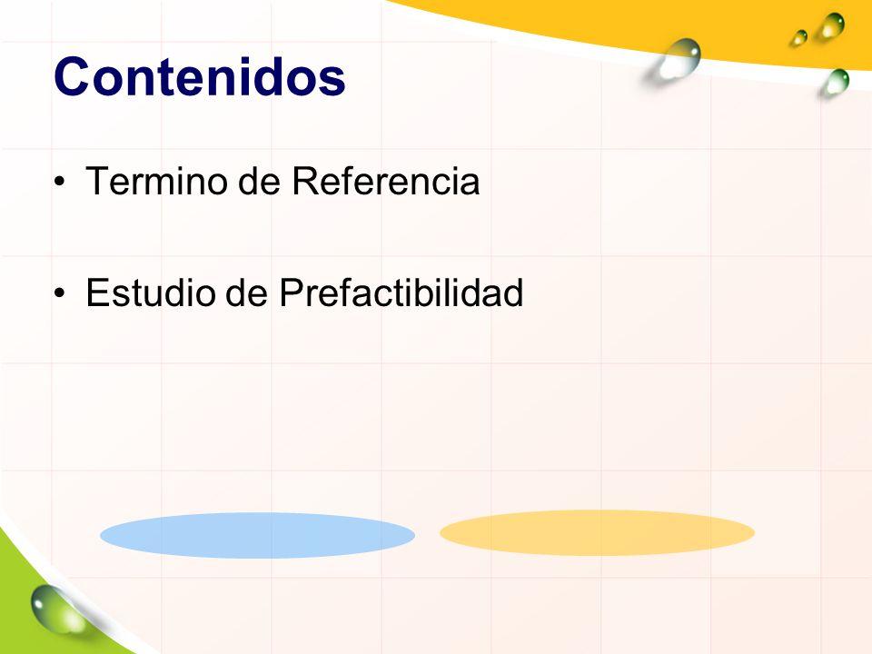 Terminos de Referencia Se aplican para servicios de carácter intelectual y de asesoramiento, provistos por consultores que cuentan con la experiencia y destrezas para evaluar, diseñar, asesorar, capacitar y transferir conocimientos.