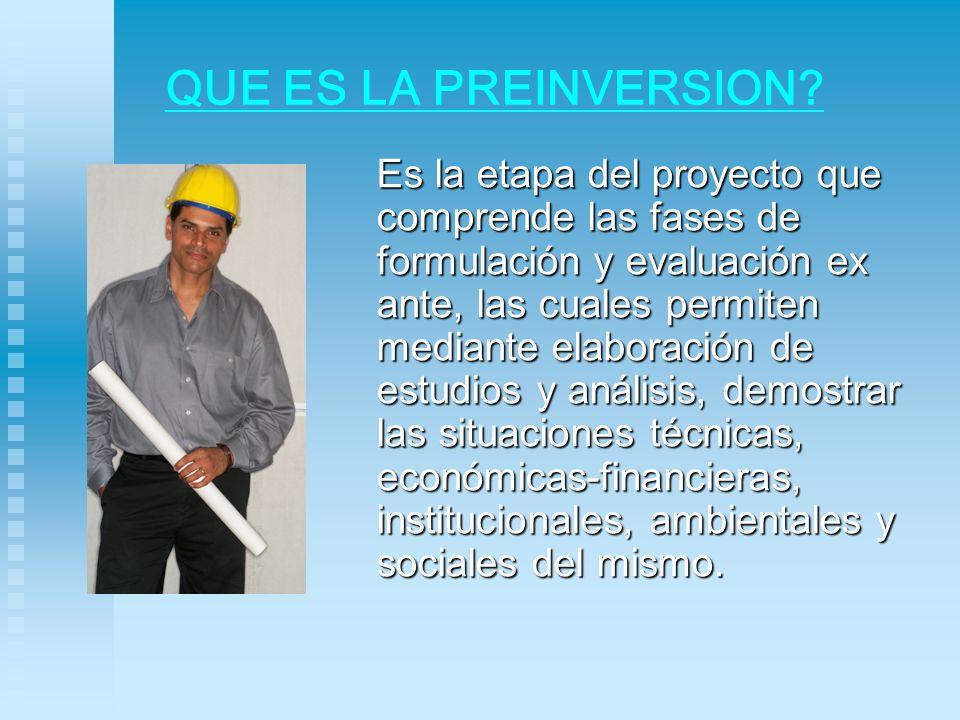 ACTORES DE LA PREINVERSION ¿Quiénes Participan.
