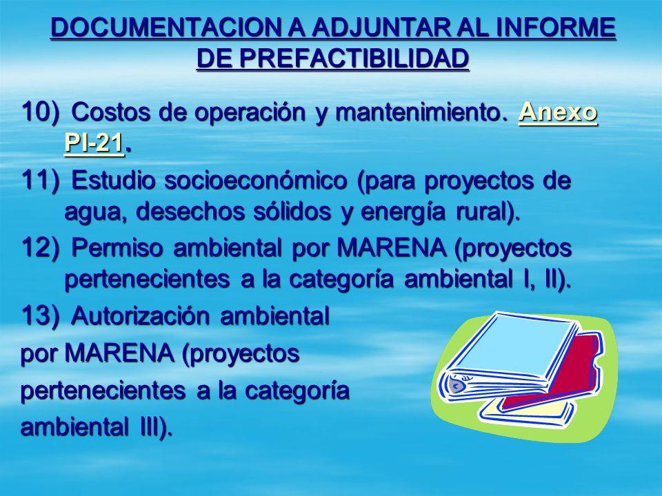 DOCUMENTACION A ADJUNTAR AL INFORME DE PREFACTIBILIDAD 5) Plano de localización. Anexo PI-19. Anexo PI-19Anexo PI-19 6) Esquema de situación sin proye