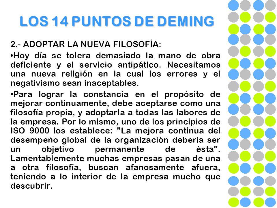 LOS 14 PUNTOS DE DEMING 12.- DERRIBAR LAS BARRERAS QUE IMPIDEN EL SENTIMIENTO DE ORGULLO QUE PRODUCE UN TRABAJO BIEN HECHO.