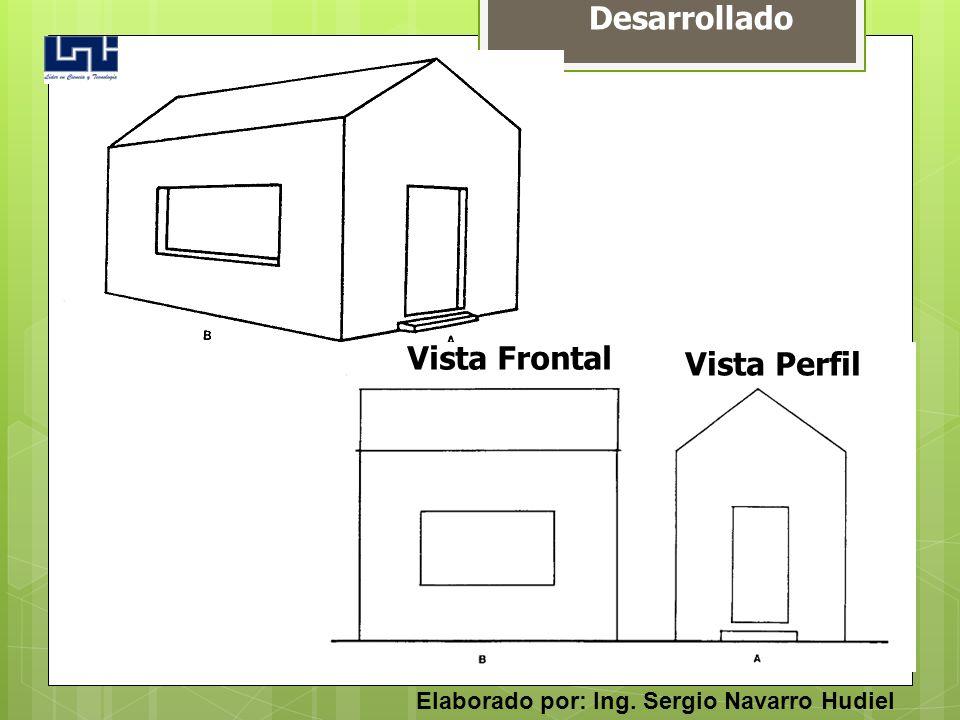 Desarrollado Vista Frontal Vista Perfil Elaborado por: Ing. Sergio Navarro Hudiel
