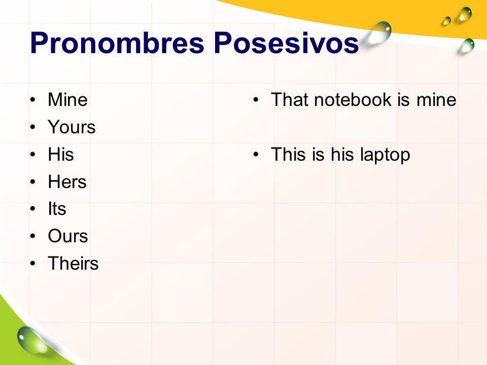 Diferencias de Posesivos It is my book.