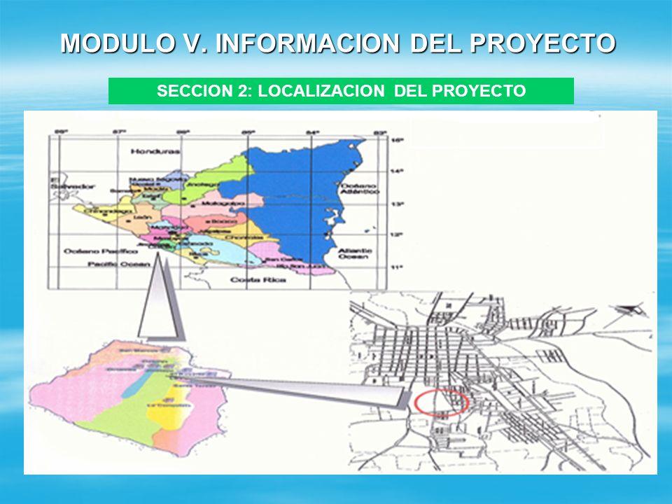 MODULO V. INFORMACION DEL PROYECTO SECCION 1: DESCRIPCION DEL PROYECTO. Ejemplo: El proyecto consiste en el reemplazo de un instituto de secundaria, c