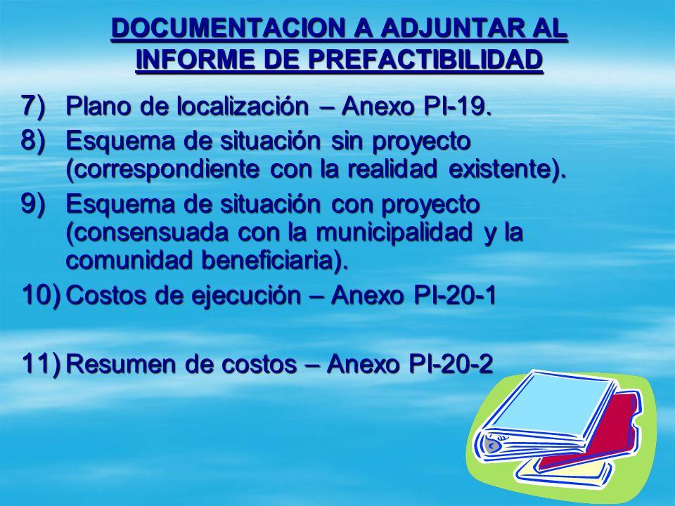DOCUMENTACION A ADJUNTAR AL INFORME DE PREFACTIBILIDAD 4) Legalidad del terreno: Escritura legal. Escritura legal. Certificado de donación autenticado