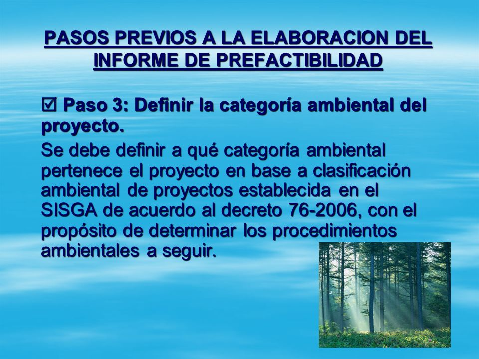 PASOS PREVIOS A LA ELABORACION DEL INFORME DE PREFACTIBILIDAD Paso 2: Definir la complejidad del proyecto. Si el proyecto es sujeto de co-financiamien