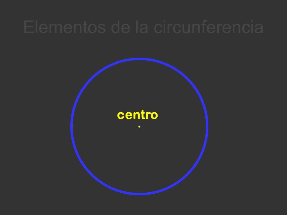 Elementos de la circunferencia centro