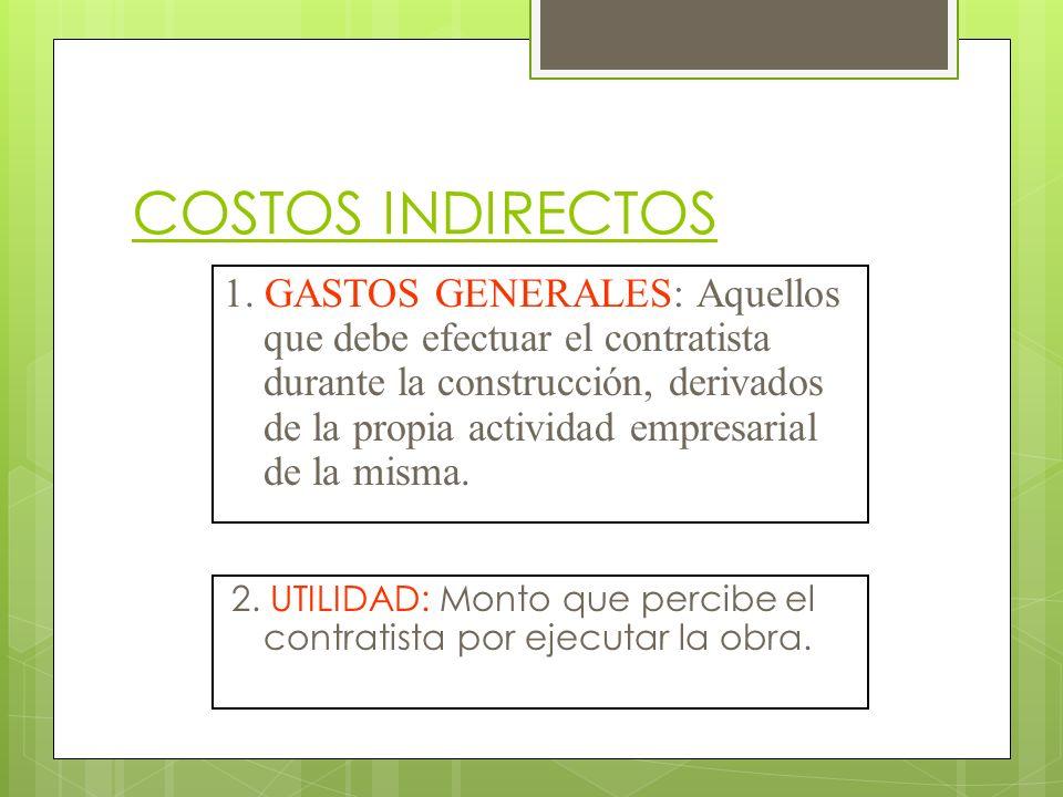 CALCULO DE GASTOS GENERALES