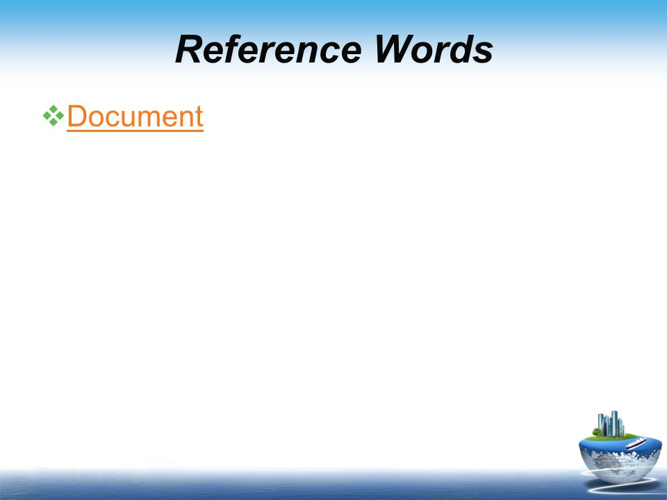 Reference Words Document