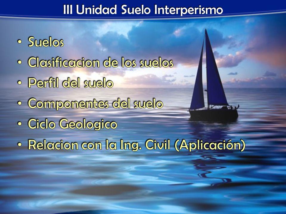 III Unidad Suelo Interperismo