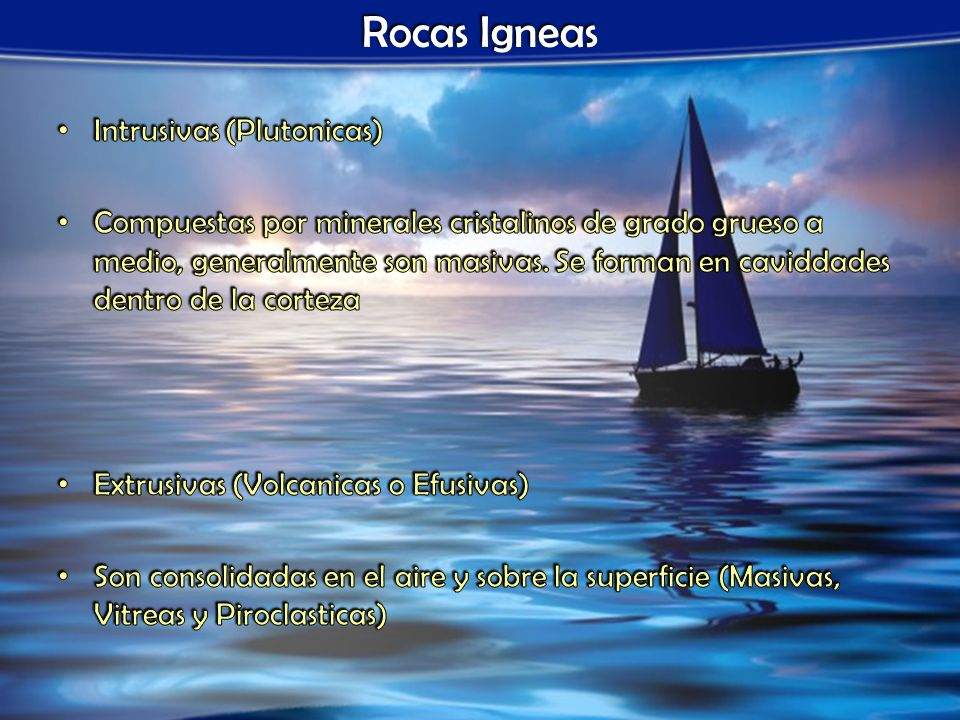 Ejemplos de Rocas Igneas