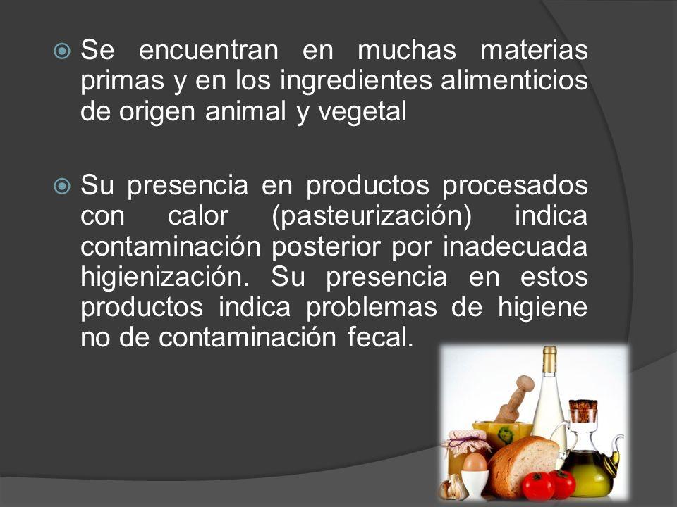 Se encuentran en muchas materias primas y en los ingredientes alimenticios de origen animal y vegetal Su presencia en productos procesados con calor (