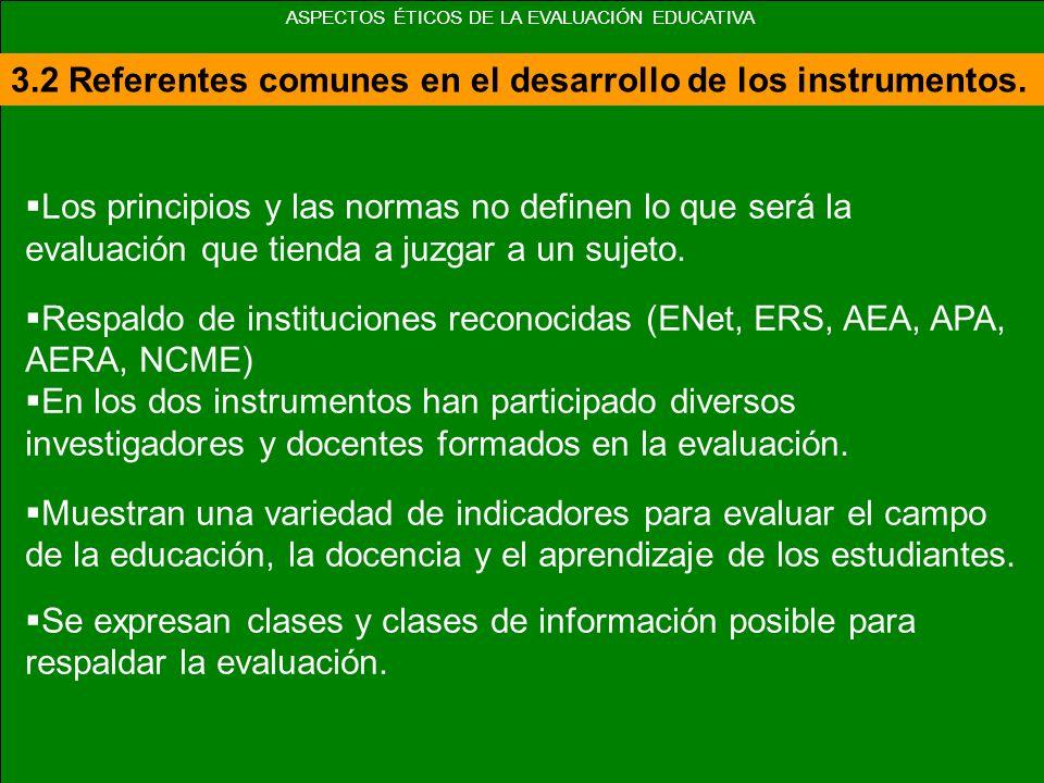 3.3 Los principios para la evaluación AEA: Desarrollo histórico.
