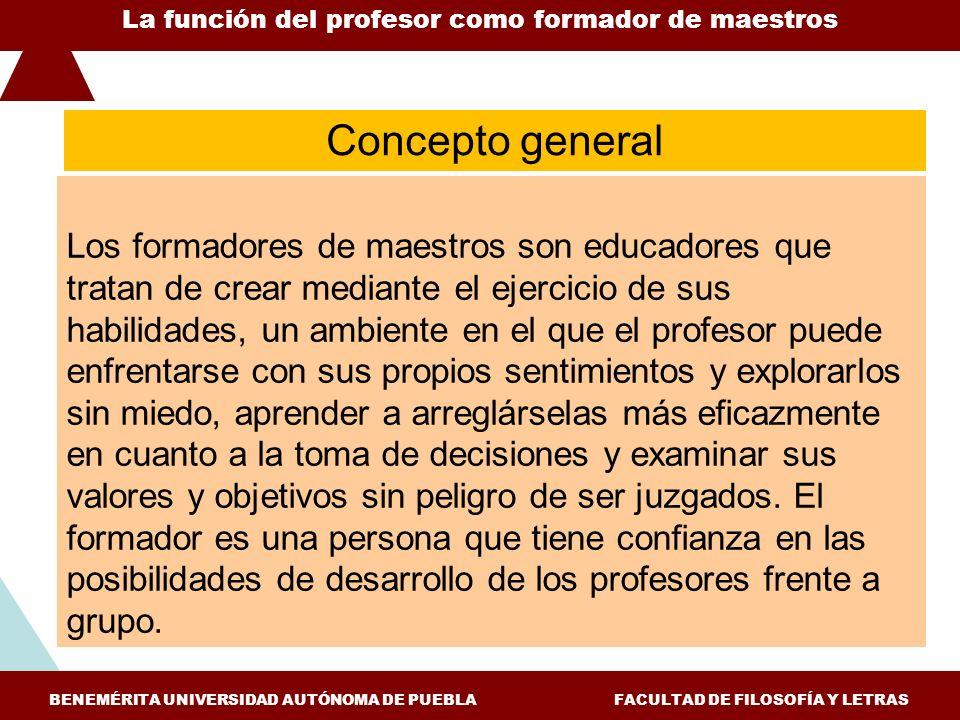 Los formadores de maestros son educadores que tratan de crear mediante el ejercicio de sus habilidades, un ambiente en el que el profesor puede enfren