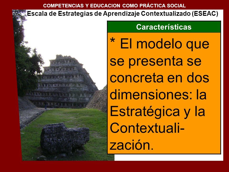 1. Conceptualización de la docencia en el Siglo XXI COMPETENCIAS Y EDUCACION COMO PRÁCTICA SOCIAL Características * El modelo que se presenta se concr
