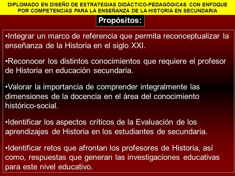 Integrar un marco de referencia que permita reconceptualizar la enseñanza de la Historia en el siglo XXI.
