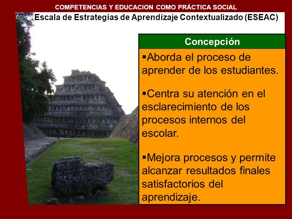 1. Conceptualización de la docencia en el Siglo XXI COMPETENCIAS Y EDUCACION COMO PRÁCTICA SOCIAL Concepción Aborda el proceso de aprender de los estu