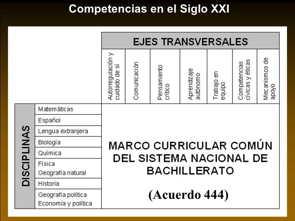 Competencias en el Siglo XXI (Acuerdo 444)