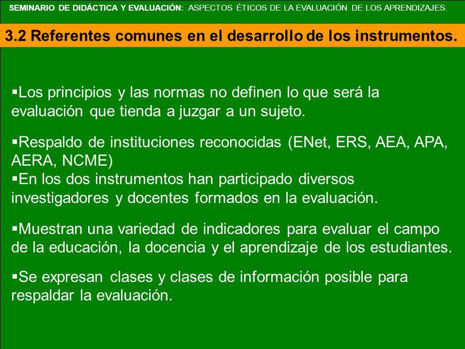 Aplicación de las Normas de Evaluación por cursos Propiedad (8) CursoHistoria de México Práctica Docente Metodología para la enseñanza Historia de la educación Didáctica para la Educación Normas de evaluación Orientación de servicio (necesidades) XXX X X Acuerdos formales XXX X X Respeto a los derechos de las personas XXX X X Interacciones humanas XXX X X Valoración completa X X Divulgación de resultados X X X Conflicto de intereses XX X Responsabilidad (rendición de cuentas) X X X T o t a lT o t a l 575 8 6