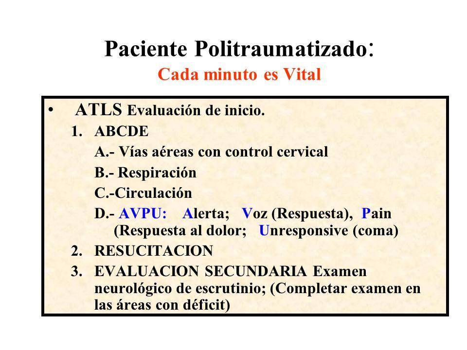 Paciente en estado de Coma a).- Historia (Interrogatorio indirecto) - Trauma –Alcoholismo –Epilepsia –Alterac.