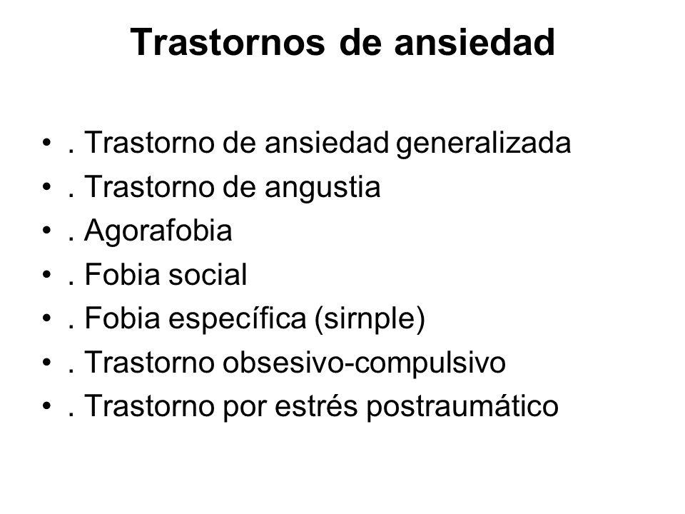 Criterios del DSM-IV para el trastorno de ansiedad generalizada.