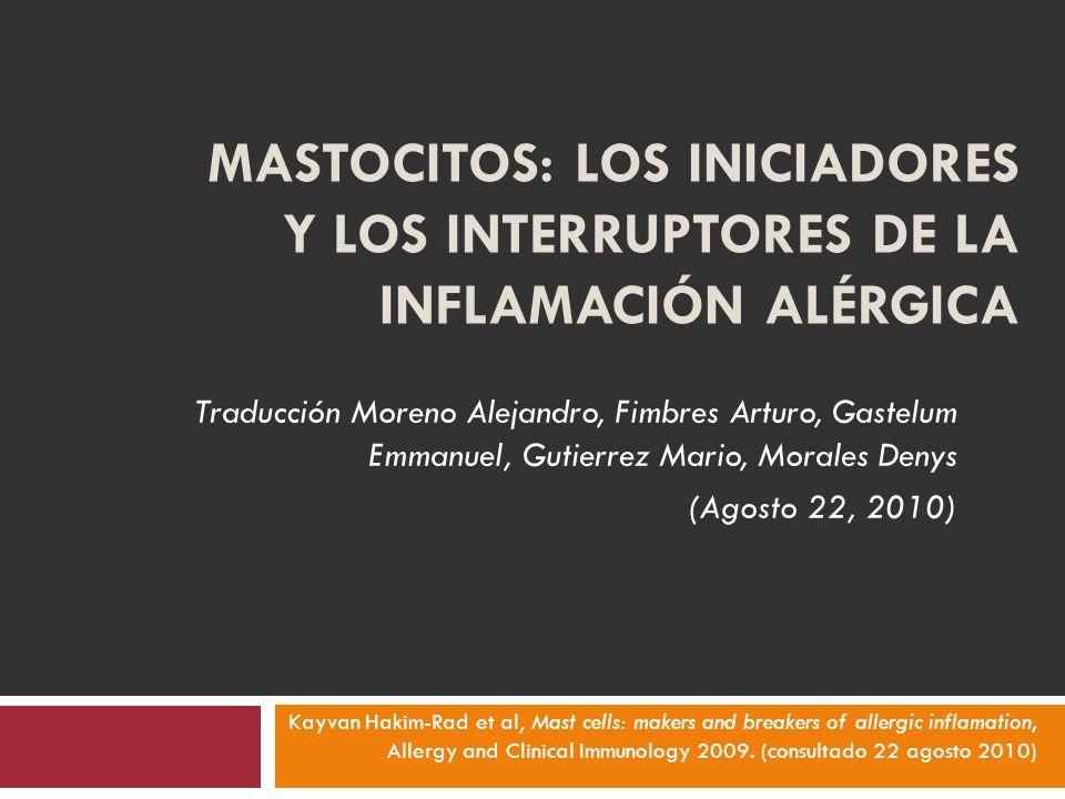 Facilitar la optima respuesta inmune protectora NO la de inducir y exacerbar las reacciones de hipersensibilidad inmediata.