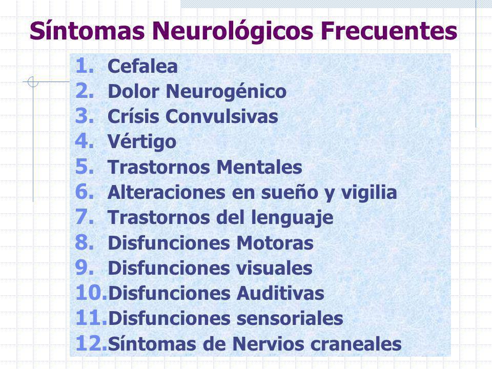 Disfunciones Sensoriales 1. Anestesias 2. Hipoestesias 3. Hipoalgesias 4. Hipotermoestesi as 5. Parestesiass 6. Disestesias 7. Hiperestesias 8. Hipoes