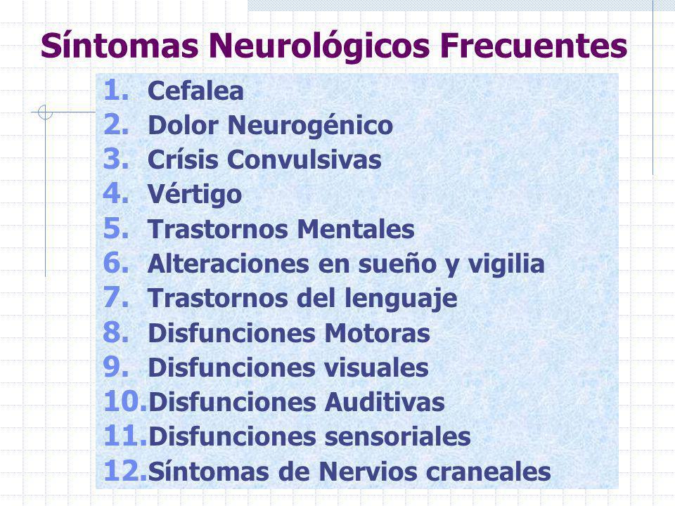 Historia Clínica Neurológica 1. Ficha de identificación 2. Historia de la enfermedad actual 3. Semiología de los síntomas pivote 4. Aaparatos y sistem