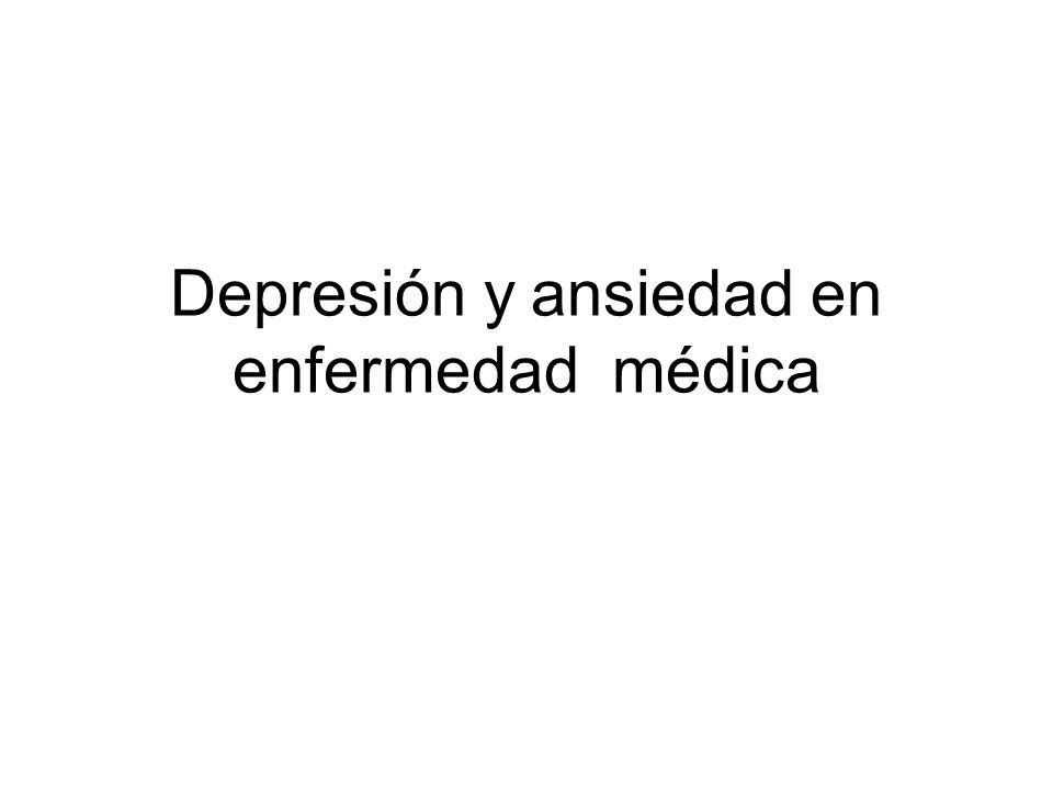 Epidemiología de la depresión Incidencia –Hombres : 4 a 10 % –Mujeres : 10 a 25 % Prevalencia –Comunidad:2-4 % –Consulta General 5-10 % –Pacientes Internados : 10- 14 % –Asilos : 6-25 %