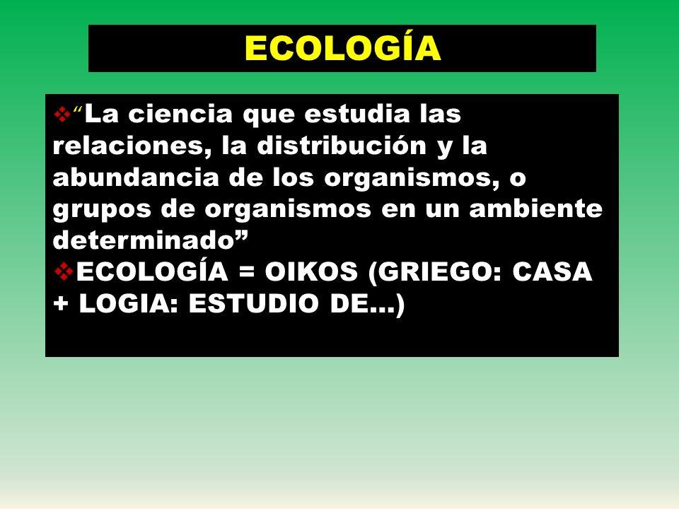 ECOSISTEMA BIOTOPO:FACTORES ABIÓTICOS BIOCENOSIS:FACTORES BIÓTICOS (COMUNIDADES DE ORGANISMOS) ATMÓSFERALITÓSFERAHIDRÓSFERA DESCOMPON EDORES PRODUCTOR