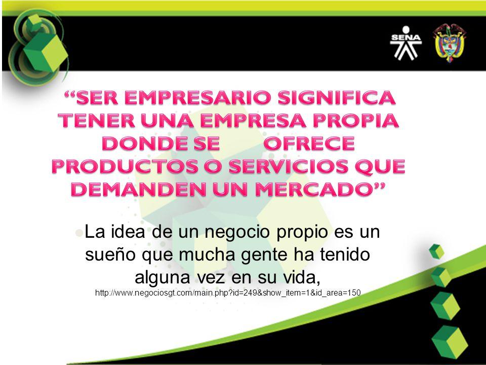 La idea de un negocio propio es un sueño que mucha gente ha tenido alguna vez en su vida, http://www.negociosgt.com/main.php?id=249&show_item=1&id_are