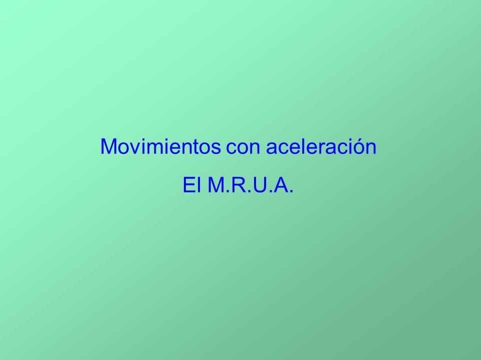 Movimientos con aceleración El M.R.U.A.