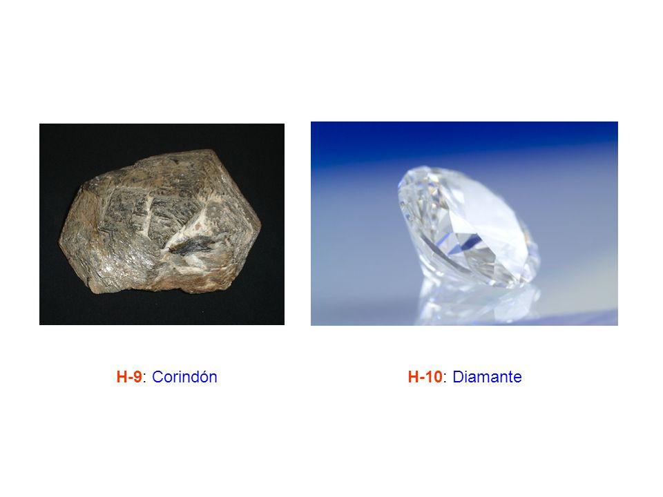 H-9: Corindón H-10: Diamante