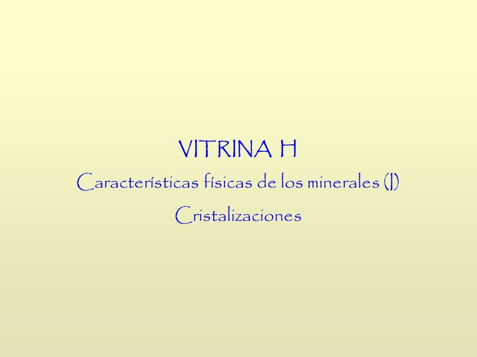 VITRINA H Características físicas de los minerales (I) Cristalizaciones