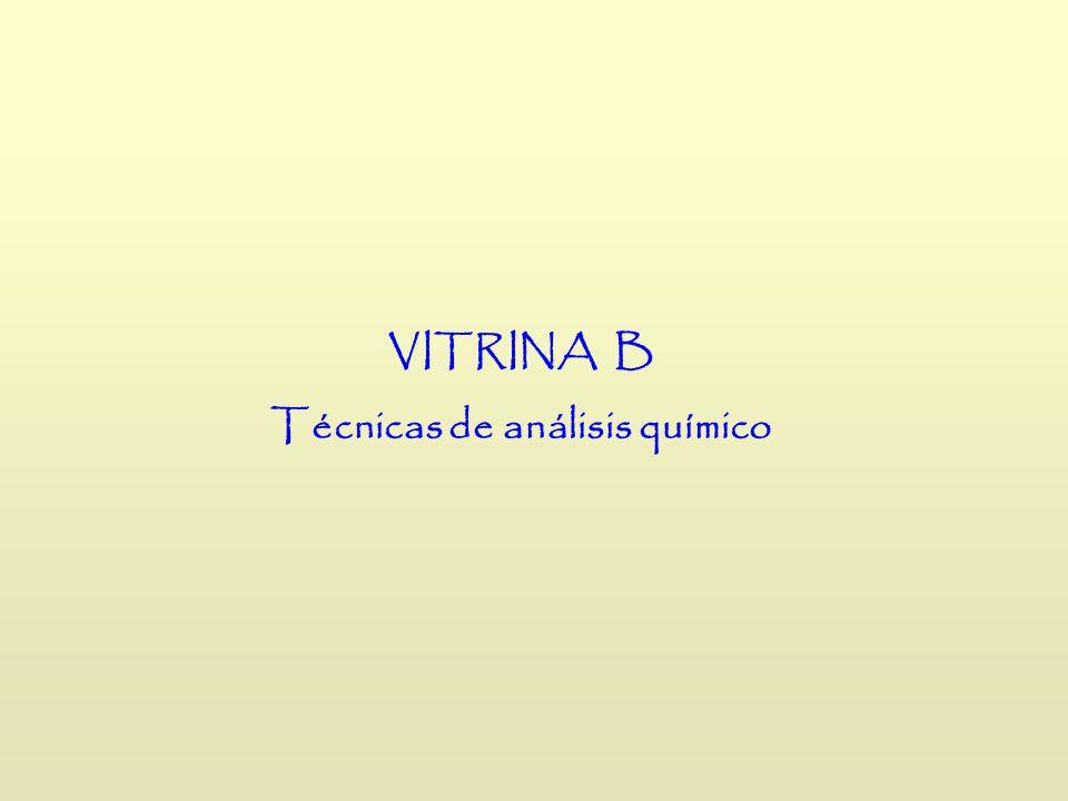 VITRINA B Técnicas de análisis químico