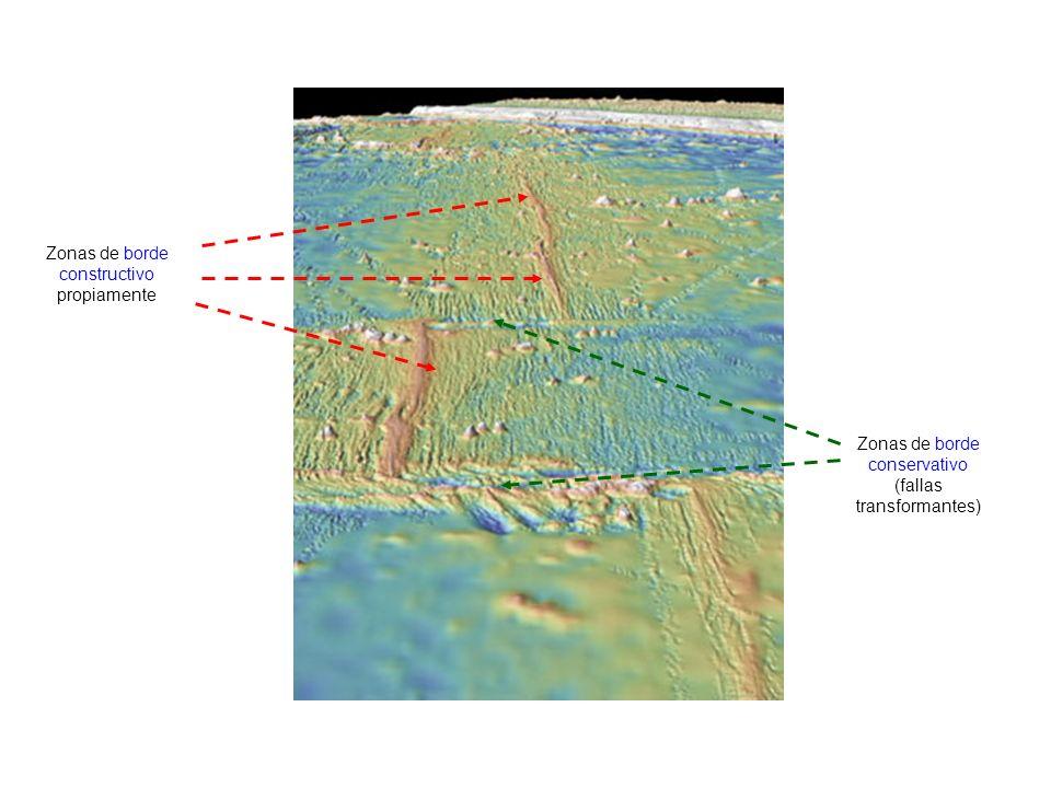 http://oceansjsu.com/105d/exped_boundaries/1.html Zonas de borde constructivo propiamente Zonas de borde conservativo (fallas transformantes)